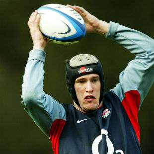 Chris Jones catches the ball in training, Pennyhill Park, February 18, 2004