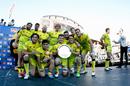 Australia celebrate their USA Sevens Plate victory against England