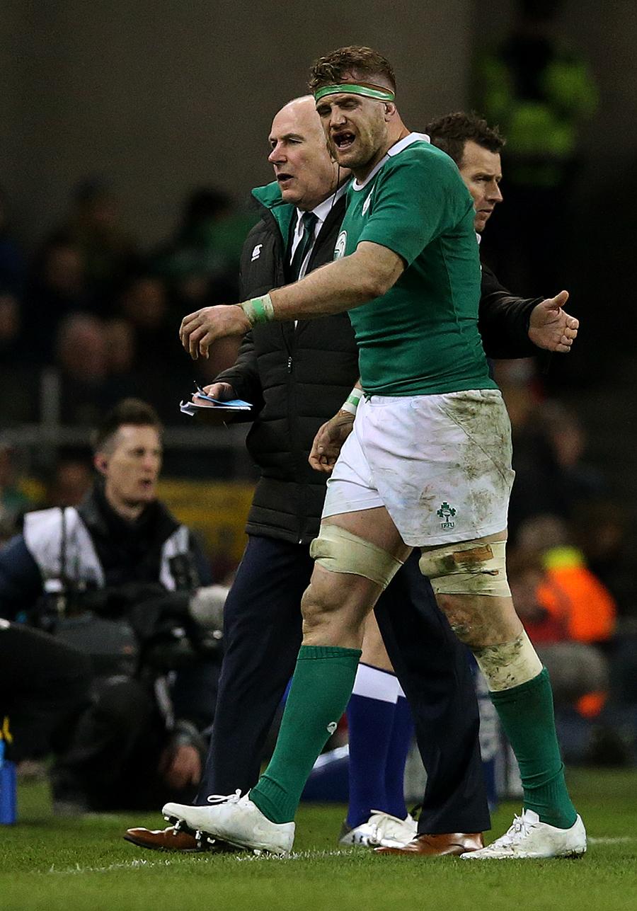 Jamie Heaslip leaves the pitch