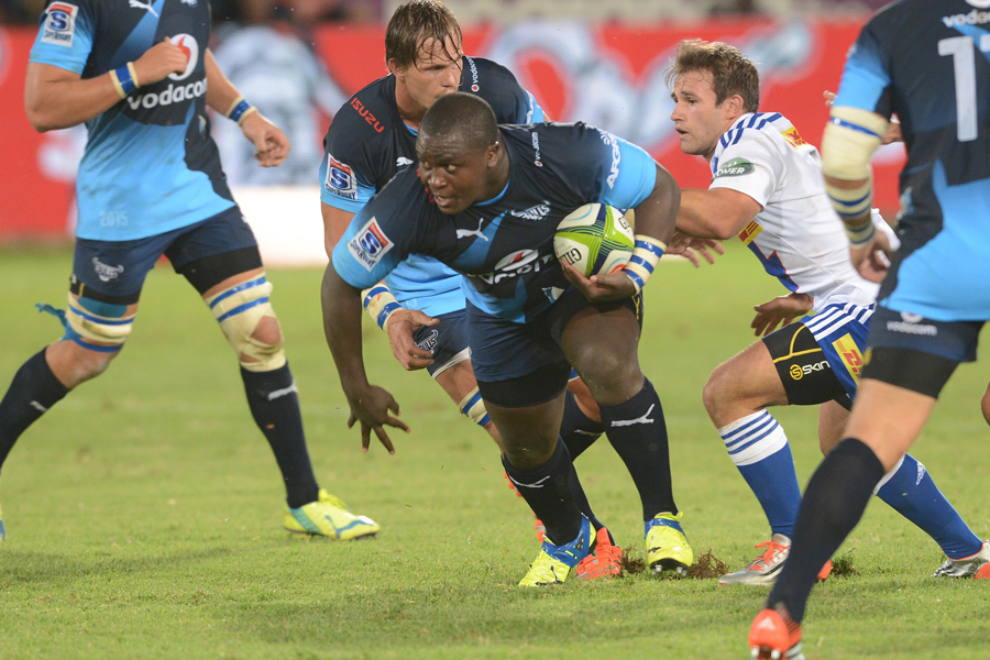 The Bulls' Trevor Nyakane charges at the Stormers
