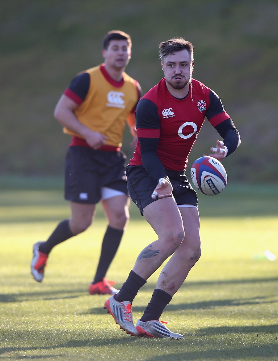 Jack Nowell trains with England