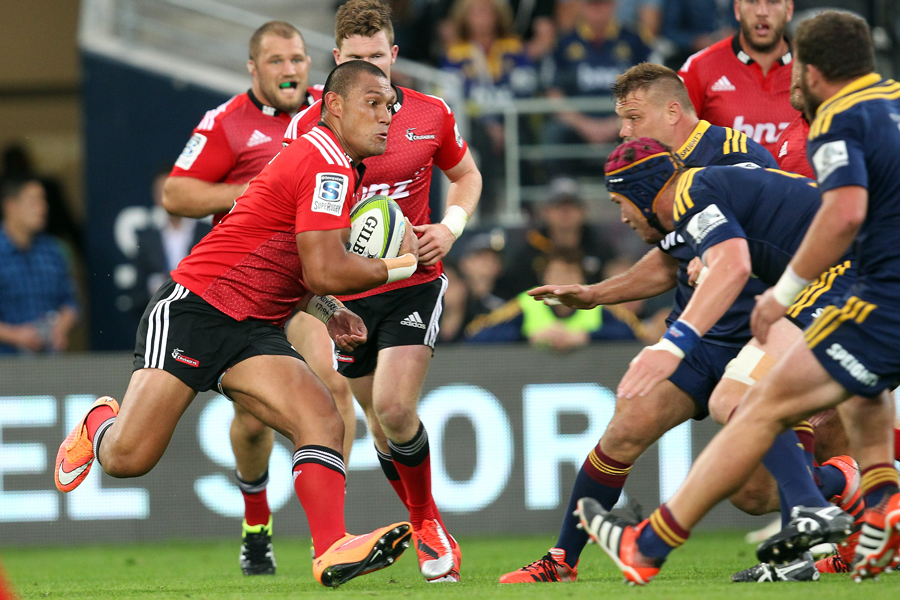 The Crusaders' Robbie Fruean on the charge