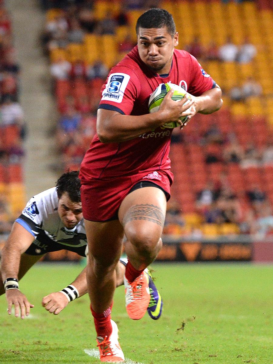 Queensland's Chris Feauai-Sautia makes a break