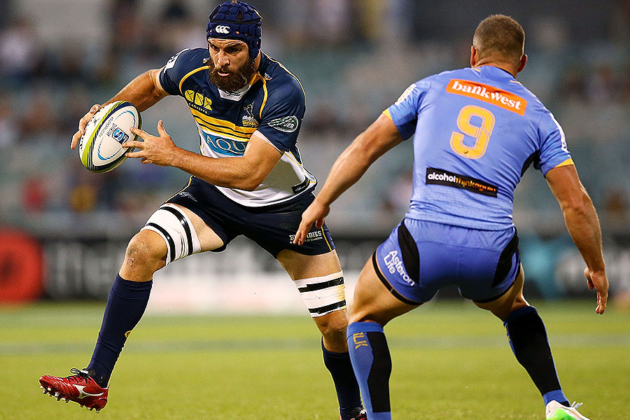 The Brumbies' Scott Fardy charges forward