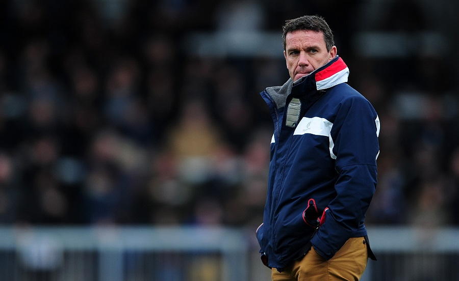 Mike Ford looks on prior to kick off