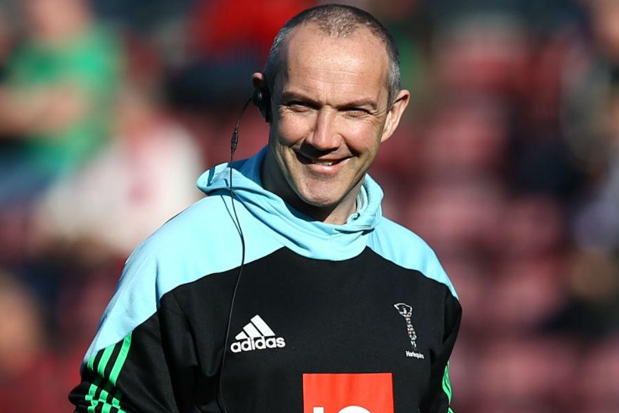 Conor O'Shea smiles in the sunshine