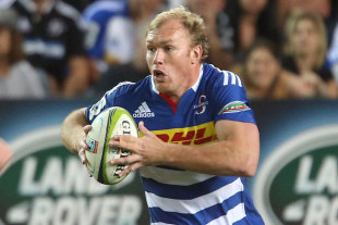 The Stormers' Schalk Burger runs back at the Sharks, Stormers v Sharks, Cape Town, March 7, 2015