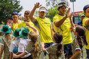 Australia's Sevens side visit schoolkids in Hong Kong