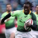 South Africa's Seabelo Senatla makes a break against Canada