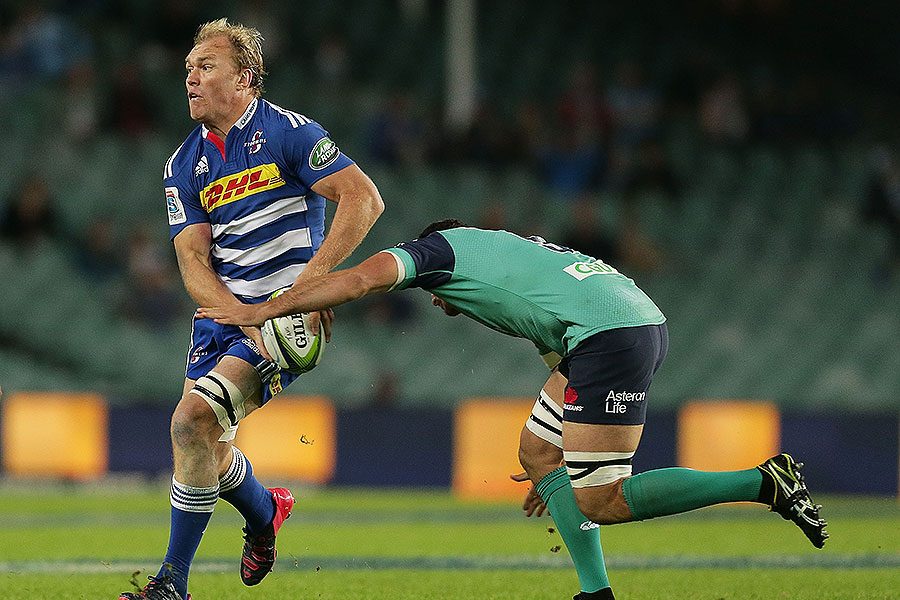 The Stormers' Schalk Burger looks for an offload