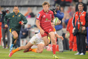 The Reds' Lachie Turner finds space out wide, Cheetahs v Reds, Bloemfontein, April 18, 2015