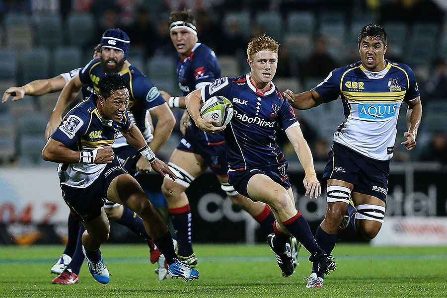 The Rebels' Nic Stirzaker bursts clear