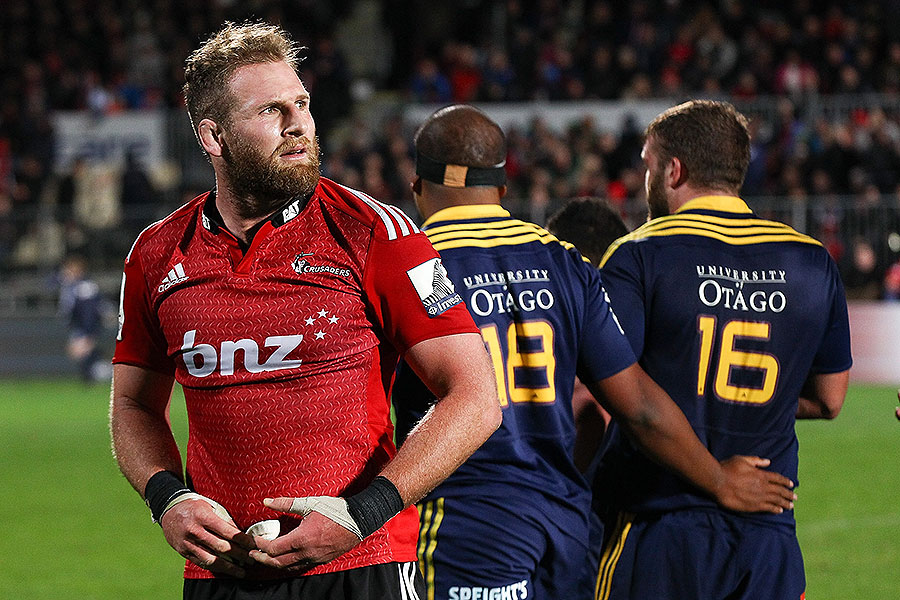 The Crusaders' Kieran Read looks on in disappointment