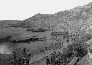 Anzac Cove: Australian and New Zealand troops landed for the first time on April 25, 1915