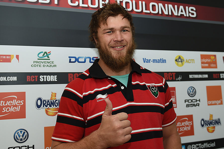 Duane Vermeulen is unveiled as Toulon's latest signing