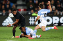 New Zealand's Waisake Naholo takes off for a run