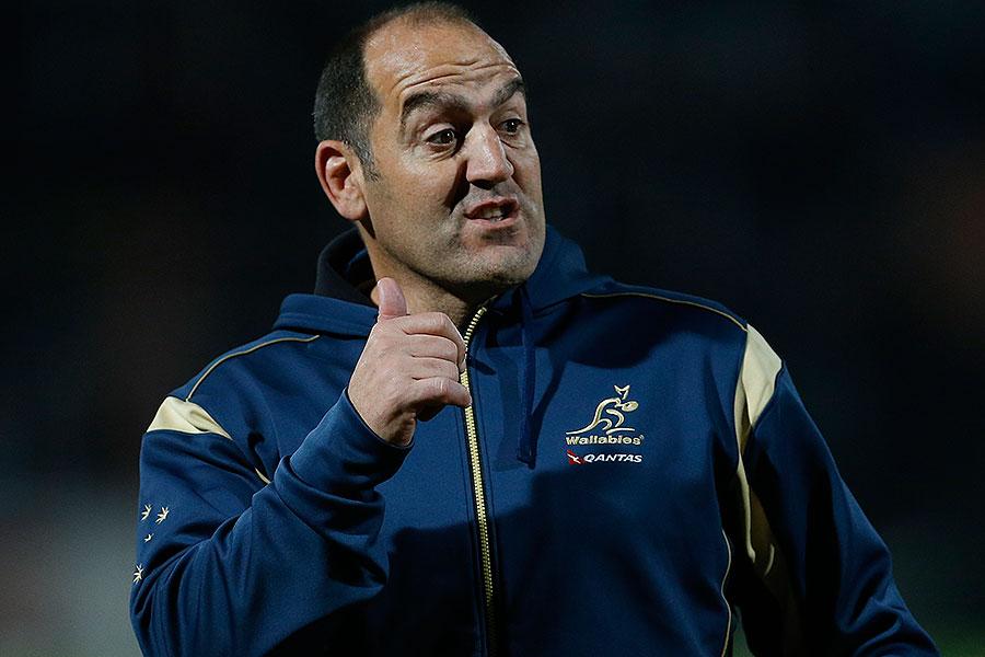 Australia assistant coach Mario Ledesma barks orders