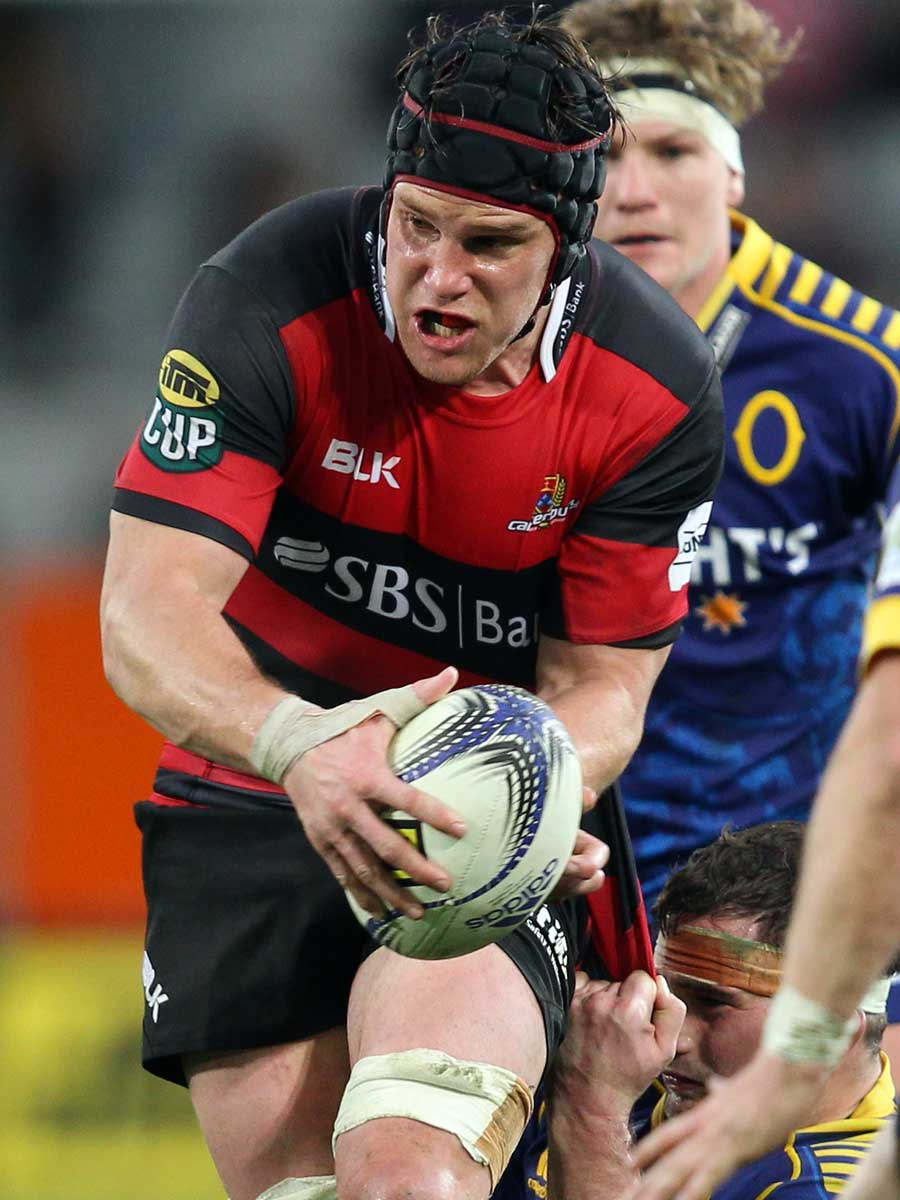 Canterbury's Matt Todd on the charge
