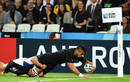 New Zealand's number 8 Victor Vito scores a try