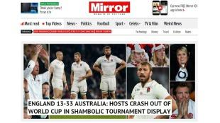 The Mirror react to England losing to Australia