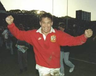 Rory Underwood celebrates victory