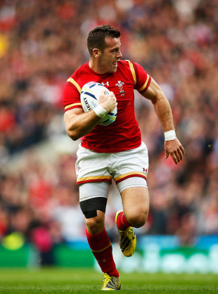 LONDON, ENGLAND - OCTOBER 17:  Gareth Davies of Wales run in  to score Wales first try during the 2015 Rugby World Cup Quarter Final match between South Africa and Wales at Twickenham Stadium on October 17, 2015 in London, United Kingdom.  (Photo by Dan Mullan/Getty Images)