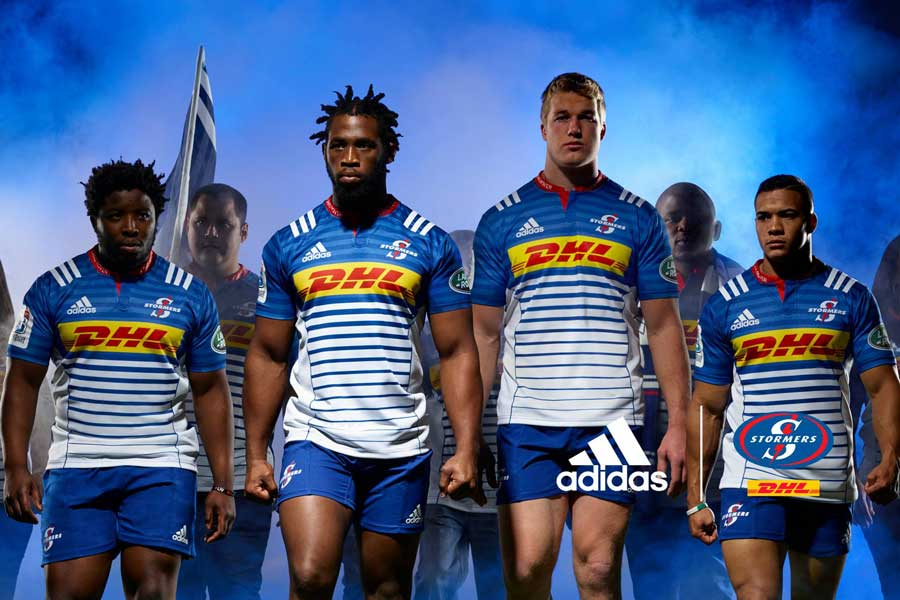 The new Stormers home jersey features the hooped signature look of Western Province rugby