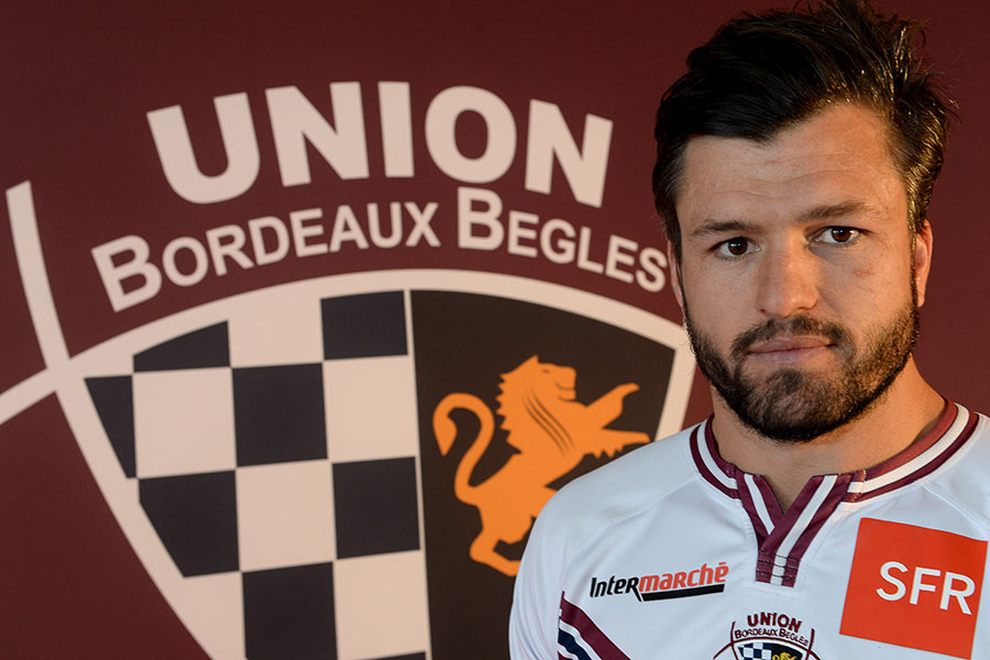 Bordeaux Begles' Adam Ashley-Cooper fronts the media after arriving in France