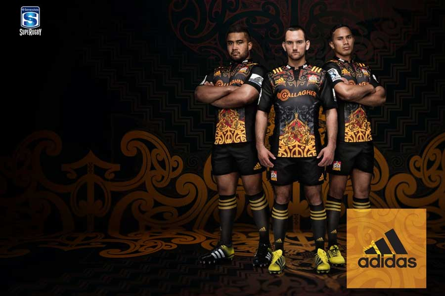 The Chiefs have incorporated Maori heritage into the design of their 2016 jumper