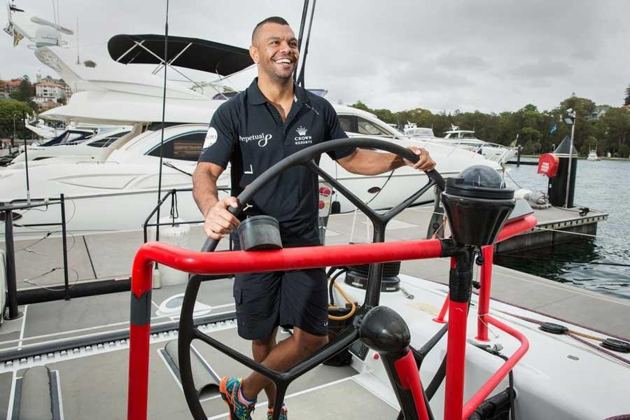 Kurtley Beale aboard Perpetual LOYAL