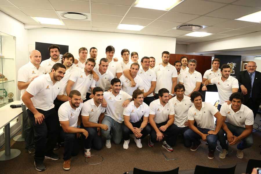 Argentina's Jaguares players