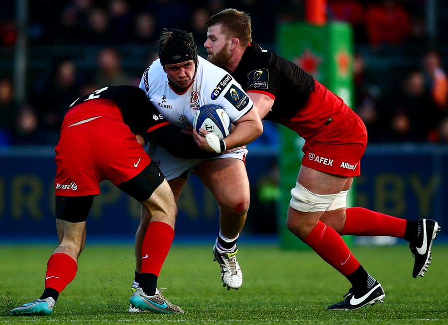 Kyle McCall of Ulster is tackled
