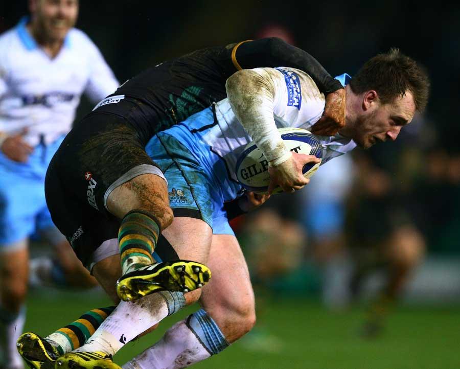 Glasgow's Stuart Hogg tries to make some yards