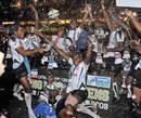 Fiji celebrate winning the 2009 Hong Kong 7s