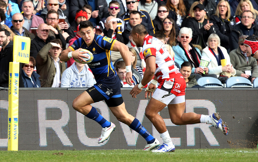 Bryce Heem scored two tries during Worcester's win over Gloucester.