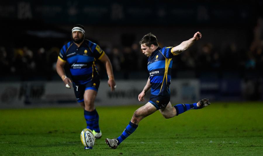 Tom Heathcote kicks his third penalty