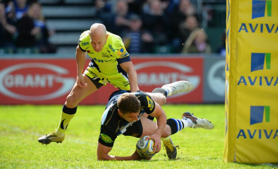Ollie Devoto scores Bath's first try
