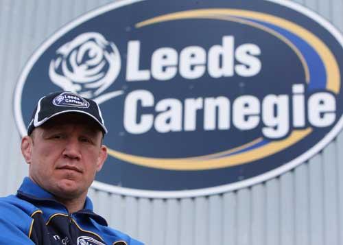 Leeds Carnegie head coach Neil Back poses at the Headling-based club, Headingley, Leeds, England, April 7, 2009