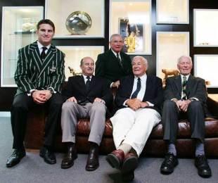 Former Wallabies Tim Horan, John Hipwell, Jim Lenehan, John Thornett and Arthur Buchan