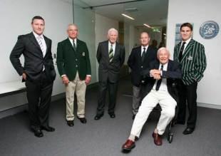 Former Wallabies Matthew Burke, Jim Lenehan, Arthur Buchan, John Hipwell, John Thornett and Tim Horan