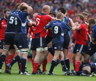 Tempers flare between Munster and Leinster, Munster v Leinster, Heineken Cup Semi-Final, Croke Park, Dublin, Ireland, May 2, 2009