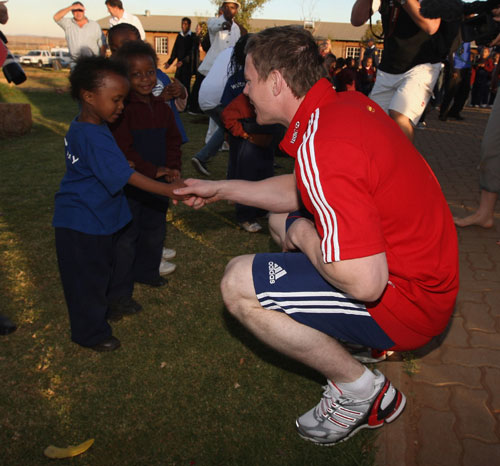 British & Irish Lions visit Masibambane College, South Africa