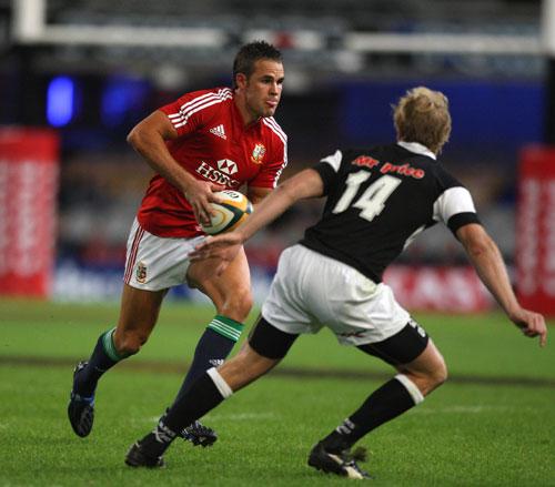 British & Irish Lions fullback Lee Byrne charges forward