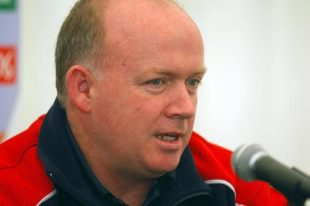 Irish Munster Rugby team coach Declan Kidney is pictured at a press conference in Dublin 22 April 2006 ahead of Heineken European Rugby Cup match against Irish Leinster.