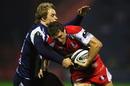 Matthew Tait tackles Matthew Watkins