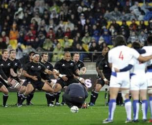 New Zealand perform the Haka, New Zealand v France, second Test, Westpac Stadium, Wellington, June 20, 2009