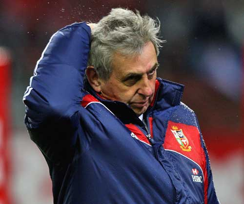 Lions head coach Ian McGeechan looks dejected
