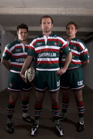 Leicester Tigers Geordan Murphy, Dan Hipkiss and Johne Murphy at their kit launch ahead of the 2009-10 season, July 24, 2009