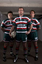 Leicester Tigers Geordan Murphy, Dan Hipkiss and Johne Murphy at their kit launch ahead of the 2009-10 season