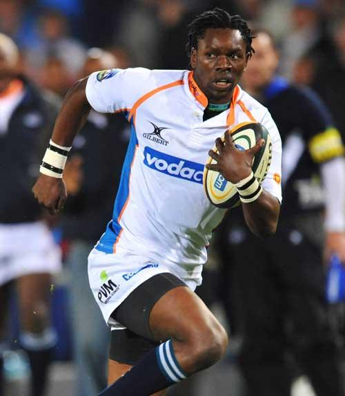 Cheetahs winger Jongi Nokwe on the burst